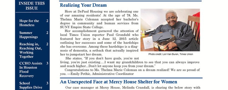 Catholic Charities Housing's Summer Newsletter