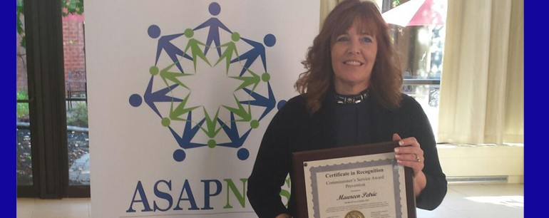 Catholic Charities' Maureen Petrie Receives  2015 Commissioner's Service Award