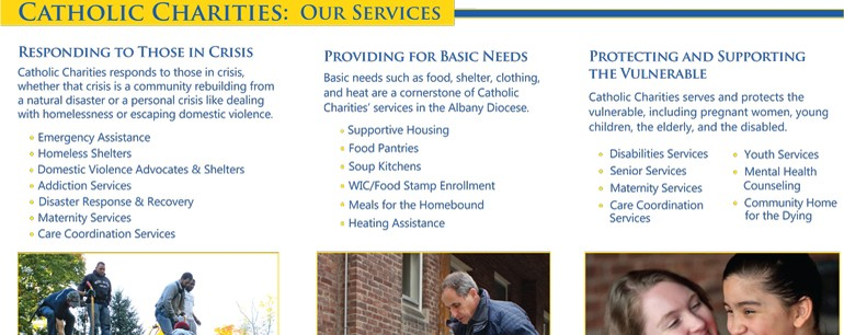 Catholic Charities brochure