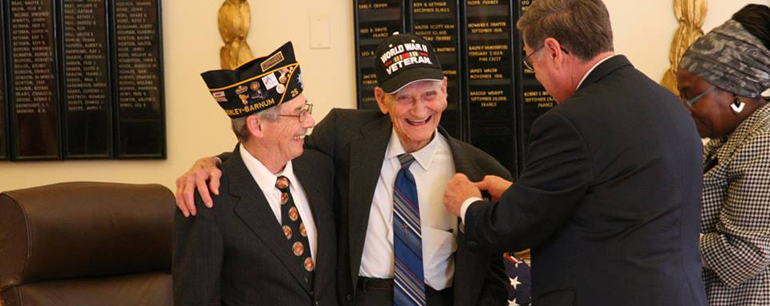 WWII Vet Awarded Overdue Medals