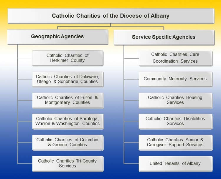 County Based and Service Specific Agency Chart